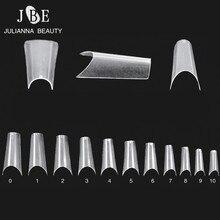 Полностью изогнутые кончики для ногтей, сгибающиеся, для салона, ABS, искусственные концы, французский маникюр, длинные кончики для ногтей, глубокая улыбка, 550 шт./лот