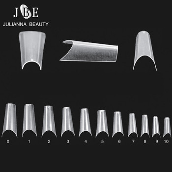 Completely Curved Nail Tips Bend Salon ABS Faux Ongles French Manicure Long Nail Art Deep Smile Line Nail Tips 550PCSLot Маникюр