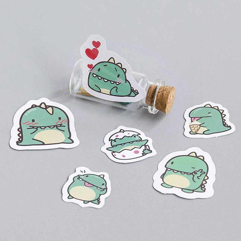 40 pçs criativo pequeno dragão verde papel adesivo decoração diy ablum diário scrapbooking etiqueta bonito papelaria tz100