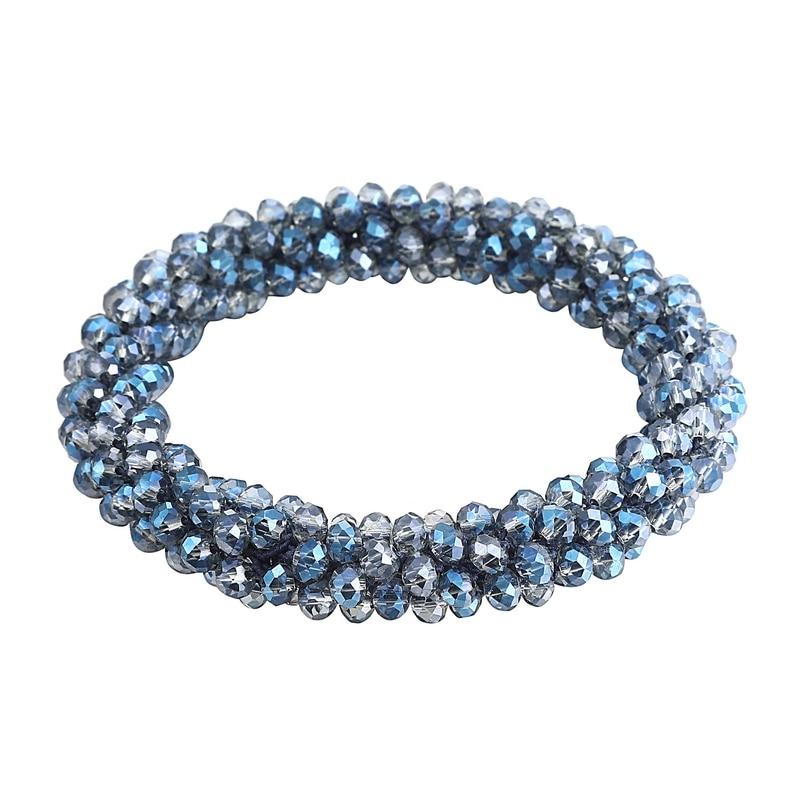 LOVBEAFAS Boho Elastic Bracelets & Bangles For Women Vintage Stretch Bohemian Femme Crystal Glass Beads Bracelets Party Jewelry