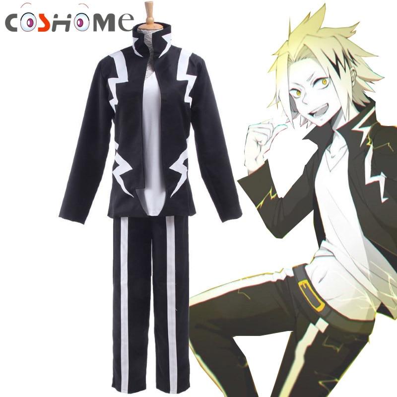 Coshome Boku No Hero Academia My Hero Academia Kaminari Denki Wigs Cosplay Costume School Uniform Men Battle Costume