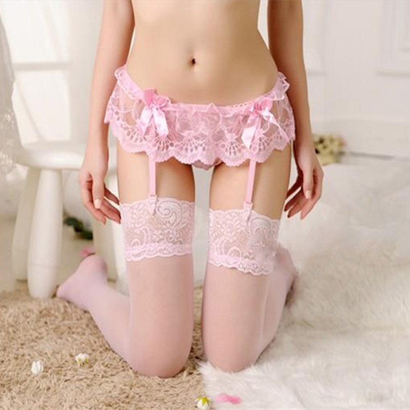BEFORW Summer Fashion Sexy Panties Lace Bow Stitching G-String Low Rise Briefs Underwear Women Sexy Thong Panties with Stocking