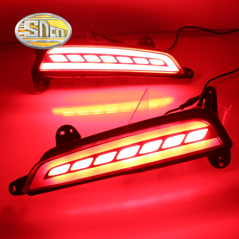 SNCN Multi-functions Car LED Rear Fog Lamp Turn Signal Lamp Brake Light Rear Bumper Light For Hyundai Creta IX25 2014 2015 2016