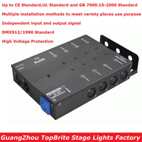 1Pcs/Lot Carton Package DMX Splitter DMX512 Light Stage Lights Signal Amplifier Splitter 8 Way DMX Distributor New Arrival