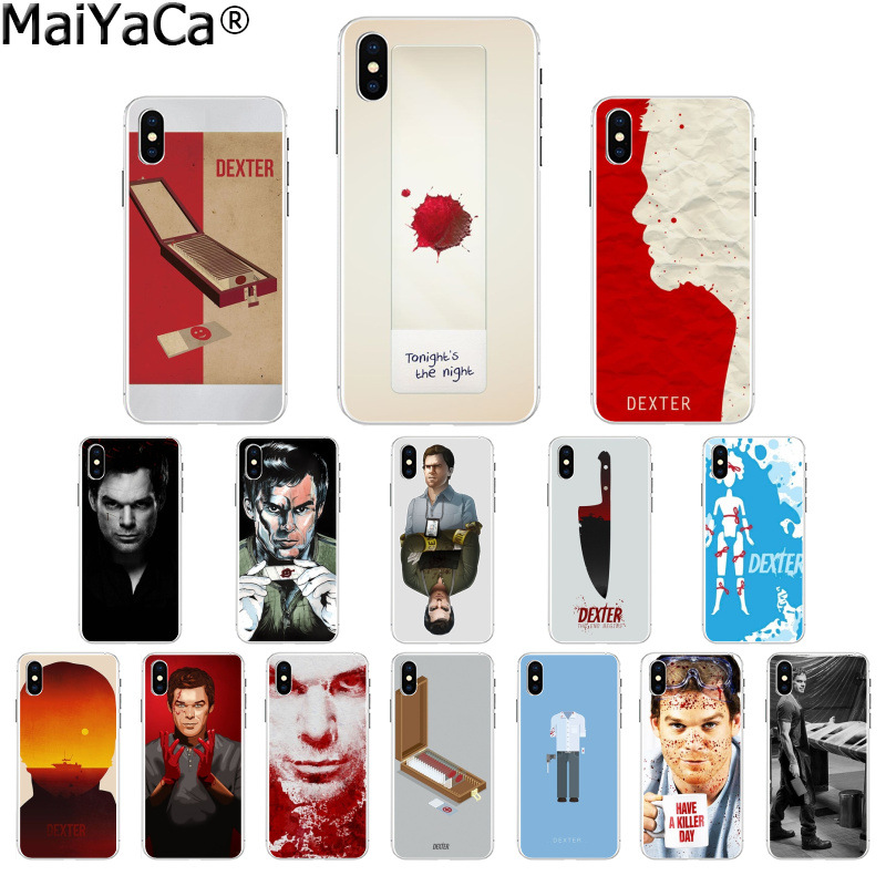 MaiYaCa Dexter Keep Calm and Let Dexter Deal Soft Rubber Phone Case for Apple iPhone 8 7 6 6S Plus X XS MAX 5 5S SE XR Cover image