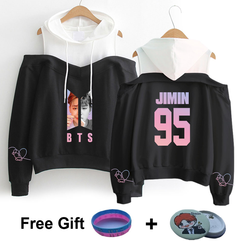 Women's Clothing Bts Hoodie Sweatshirt Kpop Bts Love Yourself Hoodie Dress Women Clothes Bts Suga Jin Jhope Jimin Harajuku Clothes Pullover Coats A Wide Selection Of Colours And Designs