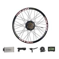 500 Вт Мотор колеса электрическое преобразование велосипедов комплект с 8 FANG 48 в 500 Вт задний концентратор Бесколлекторный двигатель ШЕСТЕРН