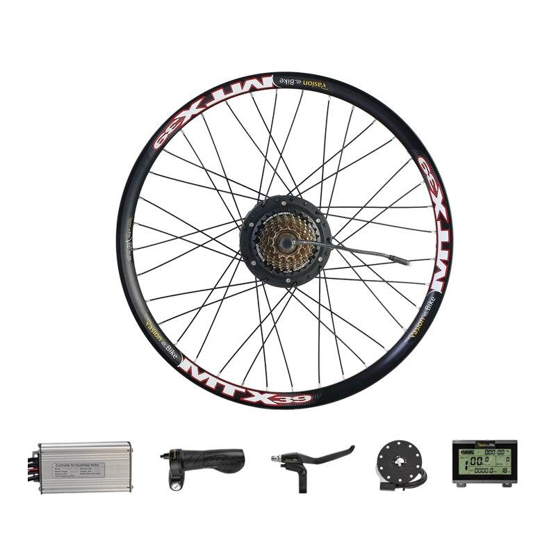 Kit de Conversion de bicyclette électrique de roue de moteur de 500 W avec 8 Kits de moteur de moyeu arrière de moyeu arrière de FANG 48 V 500 W
