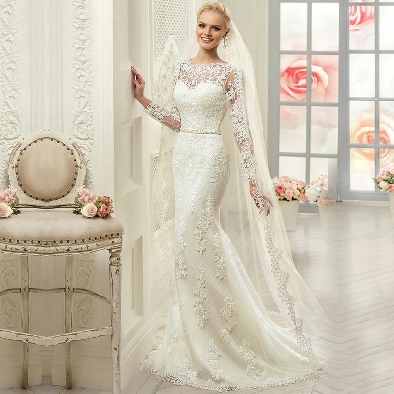 Vestido De Noiva New Hot Selling 2016 Lace Vintage Long