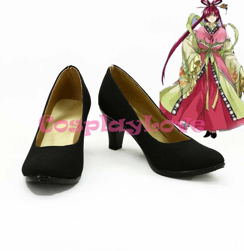 Magi Ren kougyoku Cosplay Shoes Boots Custom Made Black Color For Halloween Christmas Festival CosplayLove