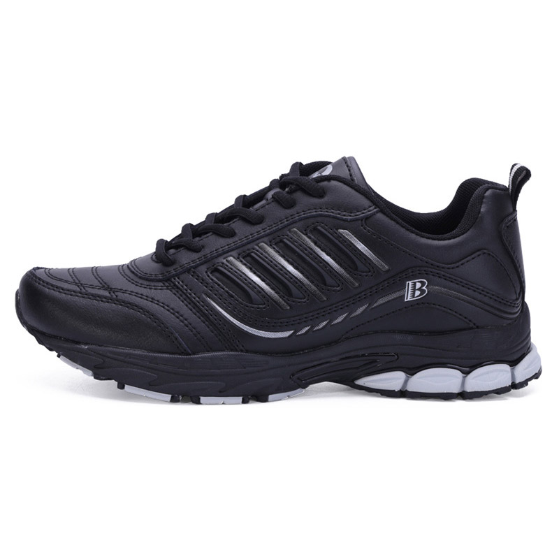 Foto from the right BONA popular running sneakers for men. Men's athletic shoes for outdoor black color