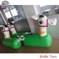 6 шт. надувной маленький конь для гонок, бесплатный воздушный насос надувной прыгающий конь для продажи