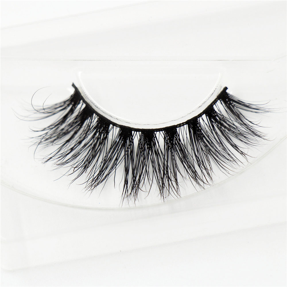 AMAOLASH Eyelashes 3D Mink Eyelash Cross thick Mink Lashes Hand Made Full Strip Eye Lashes High Volume Multilevel Lashes A14