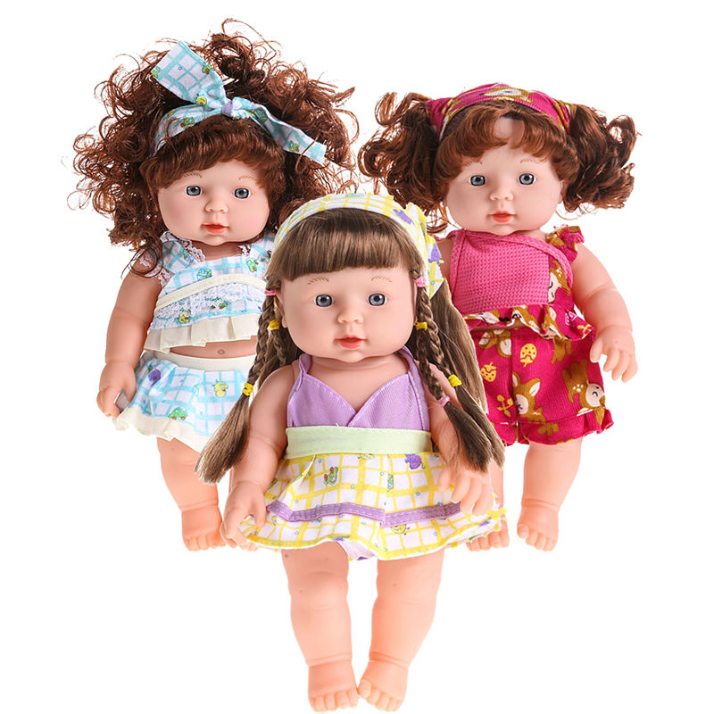 Cute Reborn font b Baby b font Doll Soft Vinyl Silicone Lifelike Accompany Doll Toy Lovely