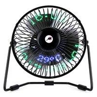 3 In 1 Desktop Calendar Clock And Temperature USB Fan 2 Speed 5 Mini Fan Aug29