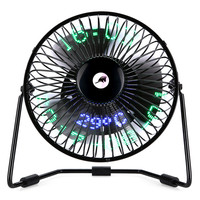 3-in-1 Desktop Kalender, uhr und Temperatur USB Fan 2 Speed 5 Mini Fan Aug29 Professionelle Neupreis Tropfenverschiffen