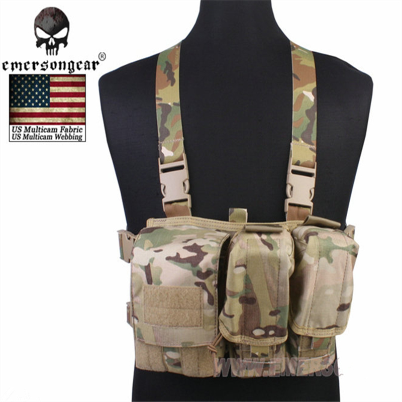 EMERSON Hunting Airsoft Military Army Vest Combat Gear Emersongear Light Weight Chest Rigs Tactical Equipment New US material emersongear g3 combat t shirt military bdu army airsoft tactical gear paintball hunting shirt em8586 typhon emerson