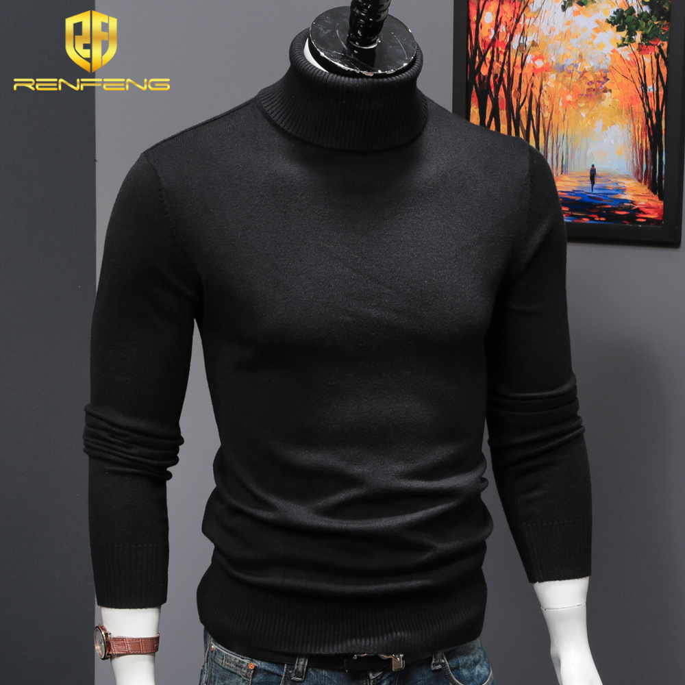 mens wool sweaters 2018 turtleneck men winter shirt christmas sweaters dress man clothes knitwear pullover jumper for male (6)