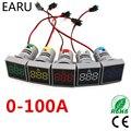 Цифровой светодиодный вольтметр, 22 мм, 0-100 А, светодиодный индикатор напряжения, пилотный светильник, амперметр, измеритель тока, автомобиль...