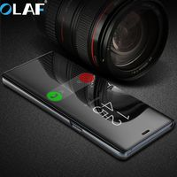 Olaf Deluxy Electroplated Smart Sleep Mirror Phone Case For Samsung Galaxy Note 8 For S6 S7