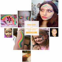 50g Body Paint Pigment Rainbow Face Painting Ink Neon UV Makeup Multicolor Series Body Art Tattoo for Halloween Split Cake Set