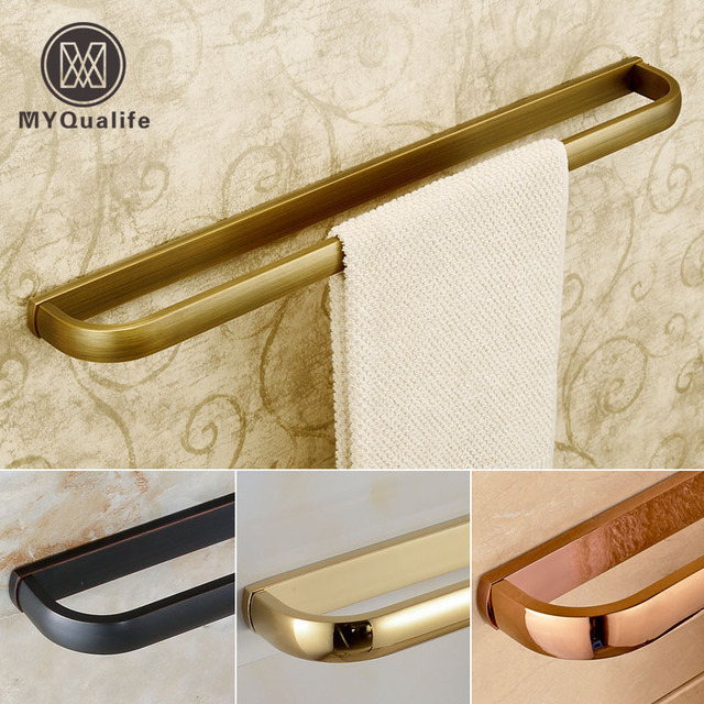 Antique /Golden/ black Bathroom Single Towel Bar Wall Mounted Towel Rack 57.5cm Towel Rod
