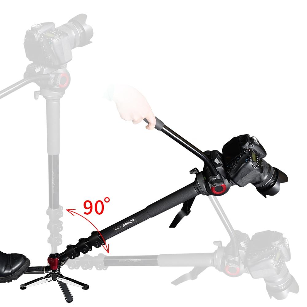 miliboo MTT705B Tripod Serat Carbon Portable & Monopod untuk Stand - Kamera dan foto - Foto 5