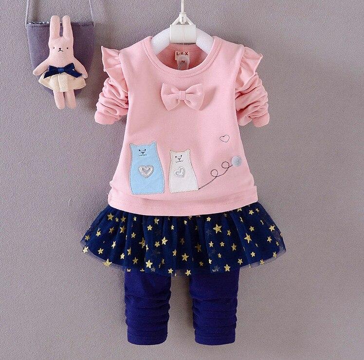 d88f35731889 ⃝Bebé niñas primavera otoño trajes de cumpleaños niños ropa ...