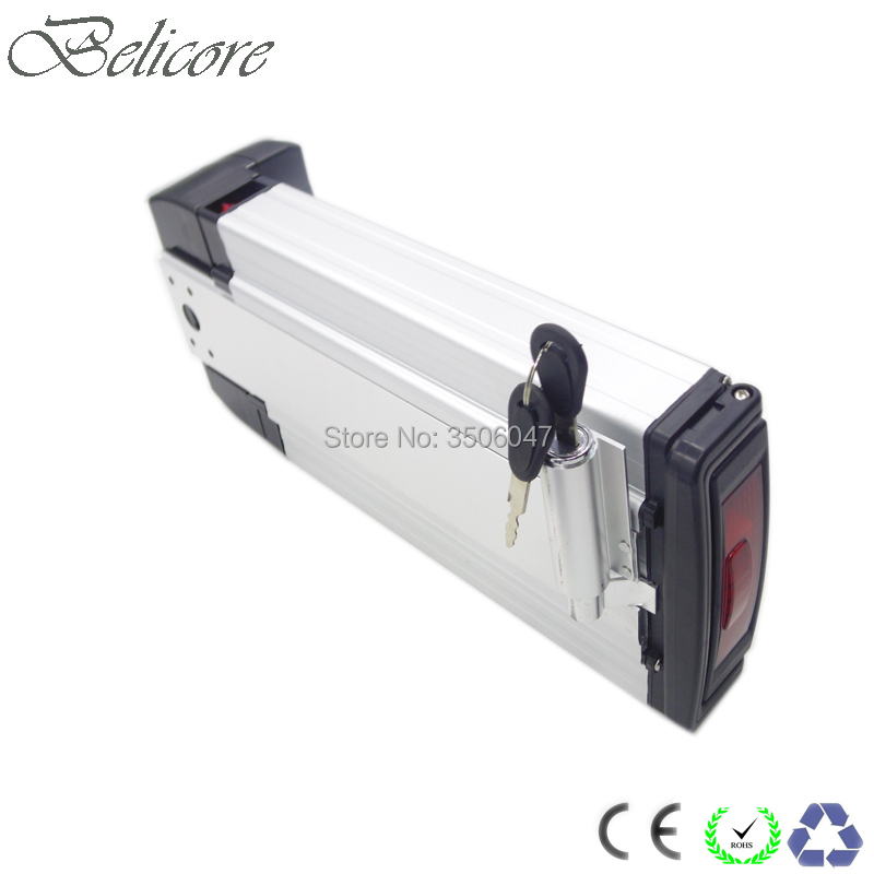 US EU no taxes rear rack 36v 11.6ah ebike li ion battery lithium battery with charger +free shipping