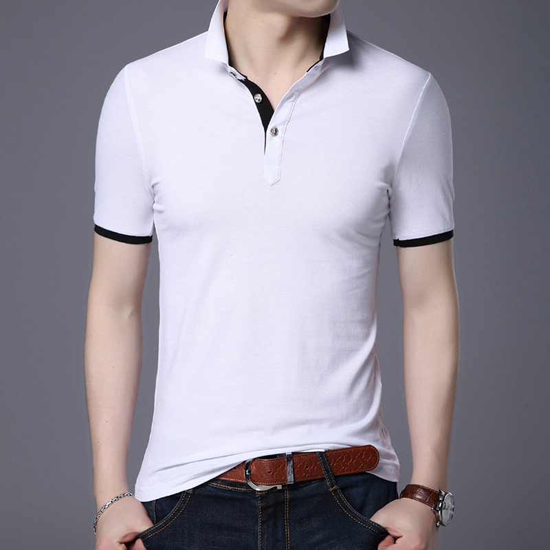 2019 New Fashion Brand   Polo   Shirts Men Solid Color Summer Slim Fit Short Sleeve Boyfriend Gift   Polos   Casual Men's Clothing
