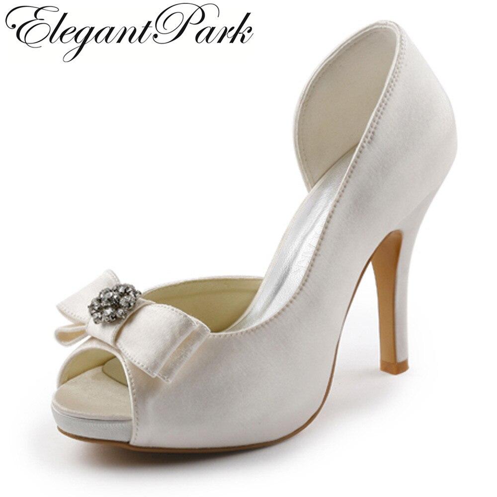 Women Fashion Pumps Top Quality Handmade EP11045-IP Peep Toe Apricot Platform High Heel Pumps Satin Wedding Bridal Shoes meifeier 407 fashion chiffon top for women apricot size m