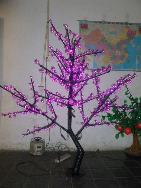 Free ship Christmas New year decor Pink Cherry Blossom Tree Light 480pcs LED Bulbs 1.5m Height 110/220VAC Rainproof Outdoor
