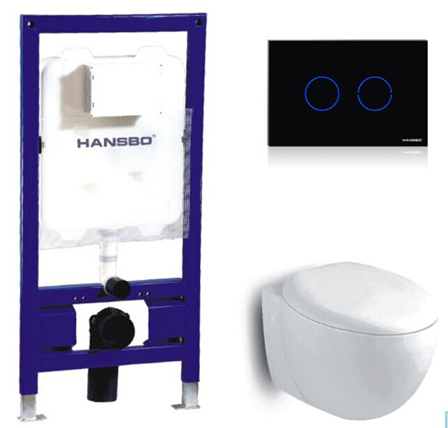 Sensor Flush Concealed Cistern With Toilet Wall Hung Pan