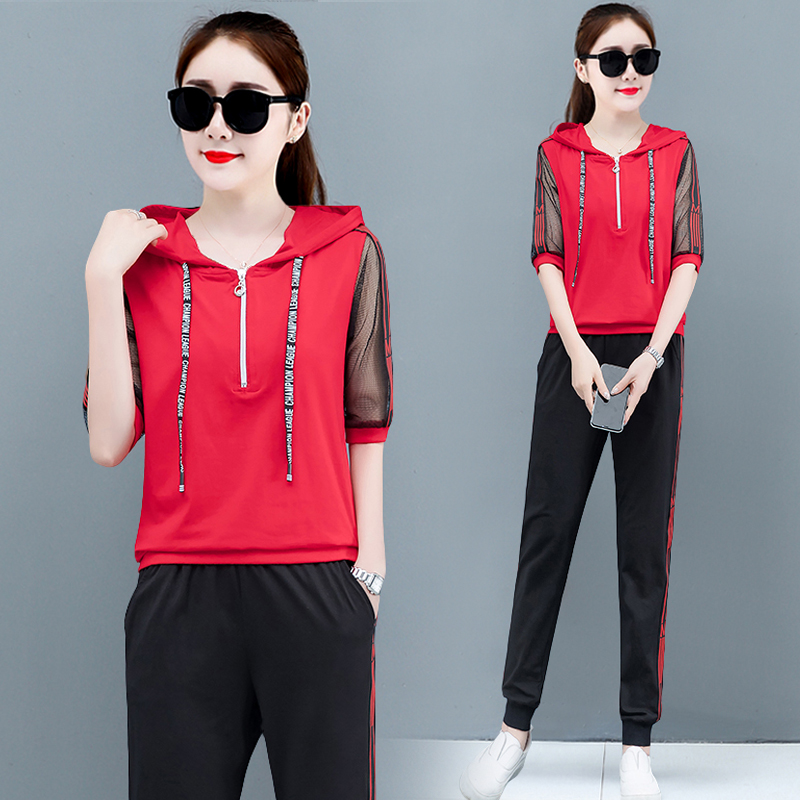 2019 Summer Tracksuits for Women Outfits 2 Piece Set Hoodies Top and Pant Suits Plus Size Striped Sportswear Co ord Clothing in Women 39 s Sets from Women 39 s Clothing