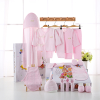 Newborn Baby Girls Clothes 18PCS/set Organic Cotton 0 6months Infants Baby Girl Boys Clothing Set Baby Gift Set Without Box