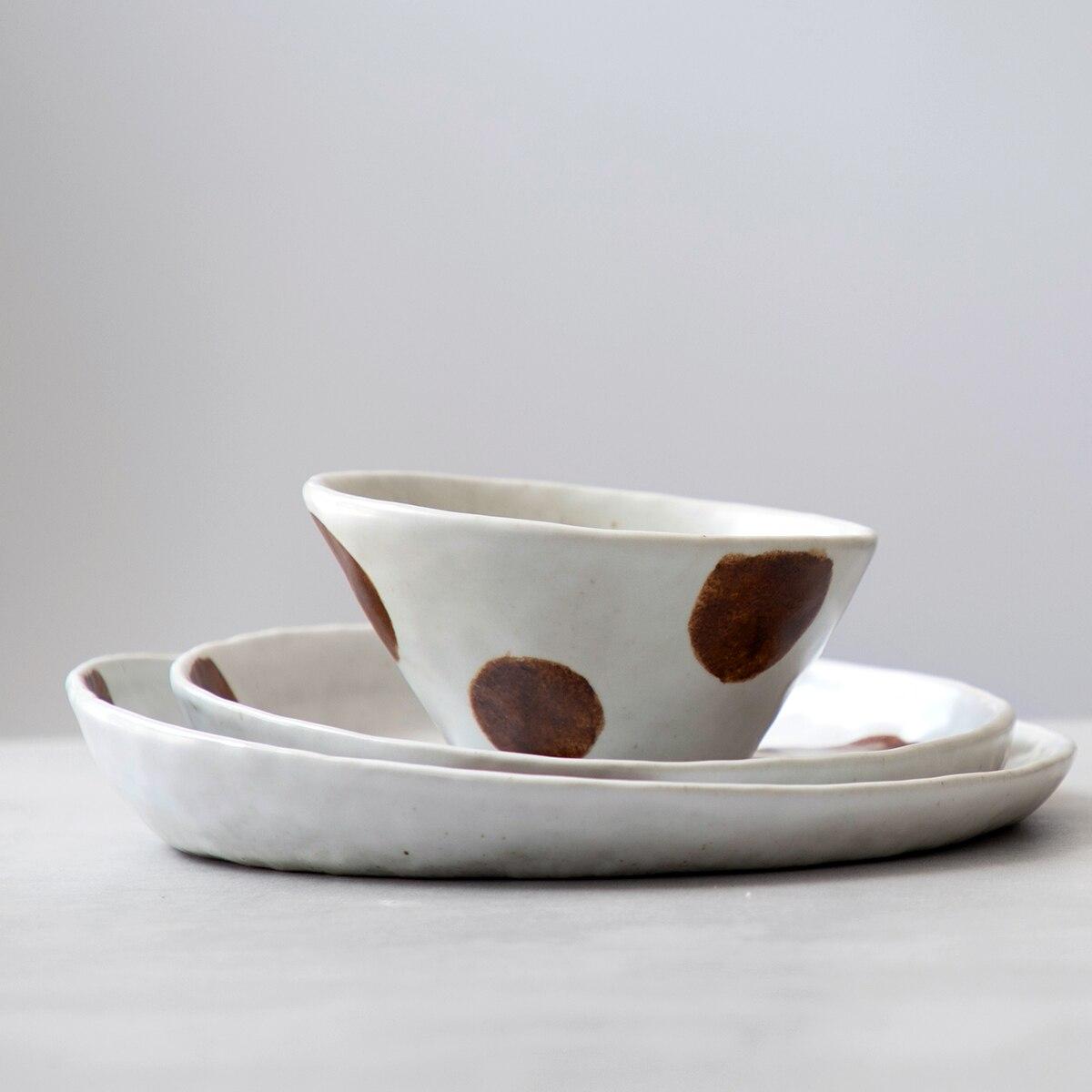 Ceramic Plates Dessert Plate Rice Bowl Dinnerware Set  Dishes And Plates Sets