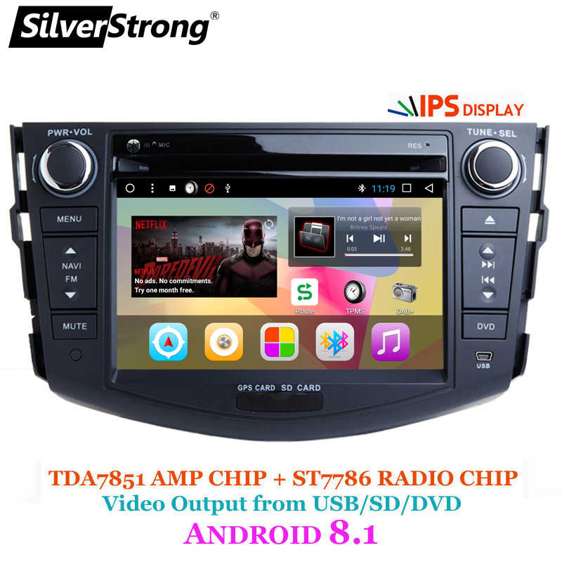 SilverStrong 2din Car Android8 1 Car DVD Player for Toyota Rav4 RAV 4 Audio  Video Auto Stereo GPS Navigation Radio DAB+