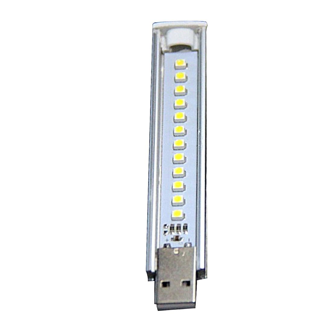 centechia Mini USB LED Night Light 12LEDs 5V Bulb Cold White Lamp for Reading Gadget Notebook Power Bank Laptop