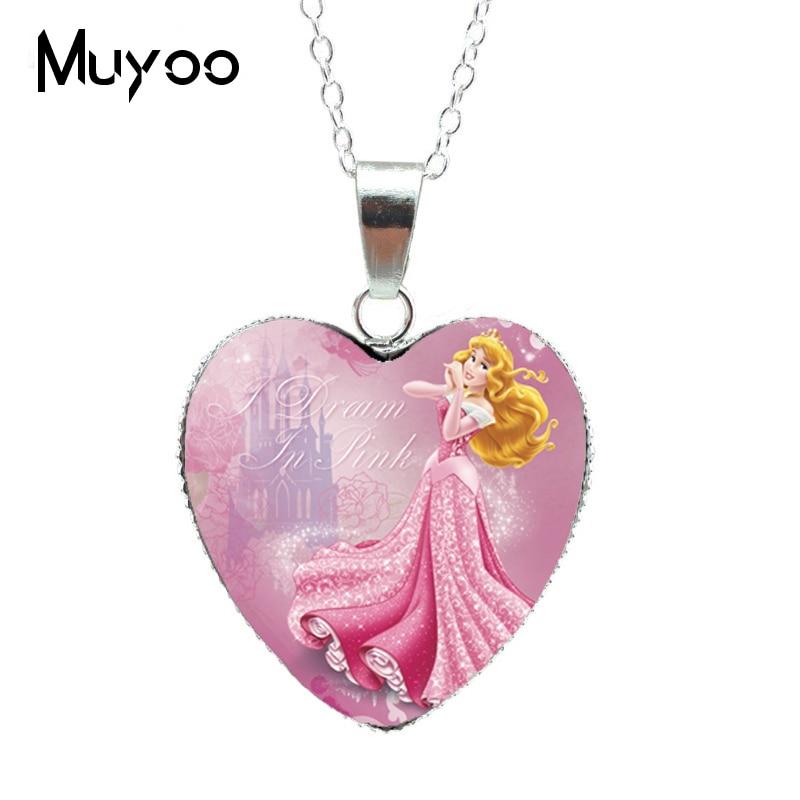 Новая модная красивая серебряная подвеска в виде сердца для принцессы Эльзы, Снежной королевы, ожерелье, ювелирное изделие, подарок для девочки HZ3 - Окраска металла: 8