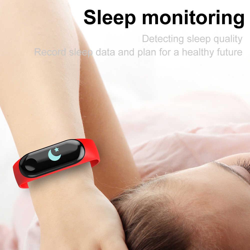 Sport M3 bracelet intelligent fréquence cardiaque tensiomètre Smartwatch hommes femmes Fitness horloge Message appel rappel chasy muzhskiye