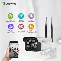 2MP Открытый IP Камера пуля Wi Fi Камера видеонаблюдения 10x зум видеонаблюдения Камера двухстороннее аудио Цвет Ночное видение Камера