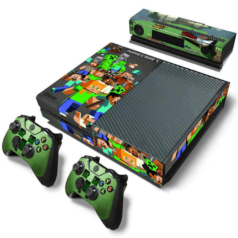 For Xbox one console sticker and 2 controllers sticker for XBOX ONE vinyl sticker for xbox one skin sticker---3177