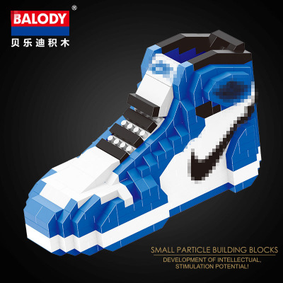 new product eca24 f2bc4 US $4.08 49% OFF|different sport Basketball shoes air jordan brick aj XI  XIII III assemable model diamond building block toy collection 18076 7-in  ...