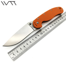2 Colors WTT Pocket Folding Knife AUS-8 Blade Tactical Survival Knives Outdoor Camping EDC Tools With Black / Orange G10 Handle