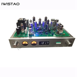 IWISTAO Tube FM Stereo Radio Built-in Power Amplifier 6P1 2X3.5W Whole Aluminum Chassis Gold High Sensitivity HIFI Audio