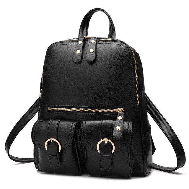 35edb3398d 2017 Fashion Women Backpacks High quality PU Leather Backpack Student book  bags Ladies Travel Bags for