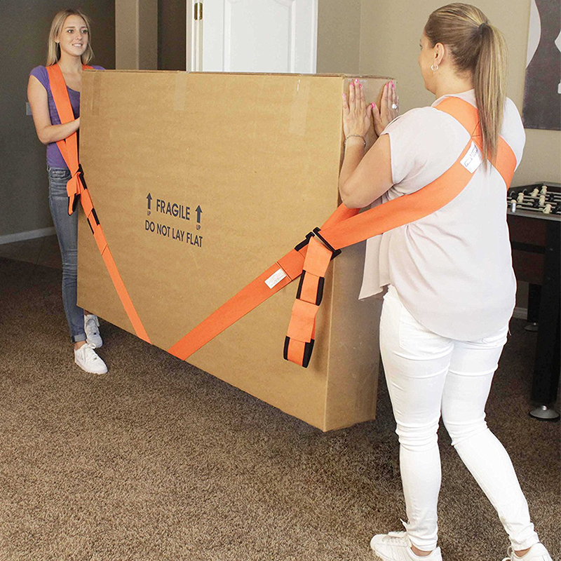 Купить с кэшбэком New Useful Lifting Moving Strap Furniture Transport Belt In Shoulder Straps Team Straps Mover Easier Conveying Storage Orange