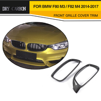 Dry Carbon Fiber Grill Frame for M4 Car Front Grille Cover for BMW M3 F80 & M4 F82 F83 & F32 F33 F36 14 17