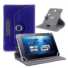 360 de Rotación universal 7 pulgadas tablet funda de piel Cubierta Del Soporte Para Android Tablet PC PAD Accesorios de la tableta de 7 pulgadas