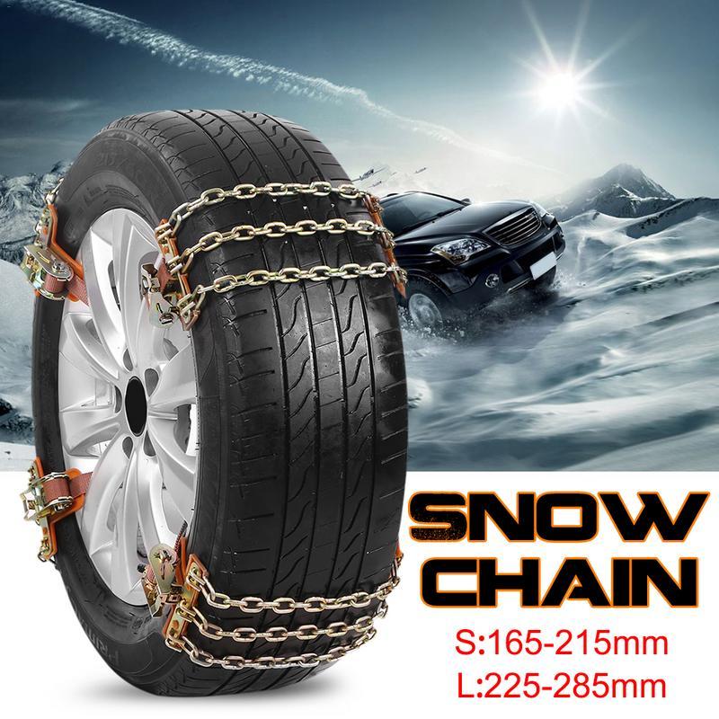 Pneu anti-dérapant chaîne en acier neige boue voiture sécurité pneu ceinture Clip-on chaîne pour voiture camion SUV 4 pièces/6 pièces livraison directe 9.29